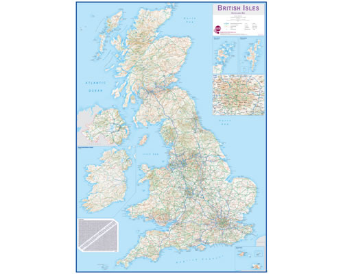 British Isles Wall Map (Routeplanner)