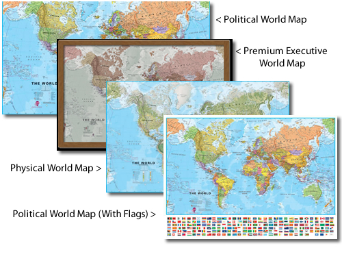 Best Selling Range of World Maps