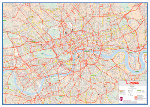 huge central london map