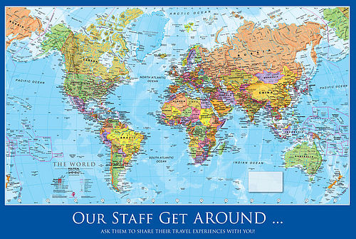 Personalised world map gets the thumbs up maps international blog personalised world wall map gumiabroncs Gallery