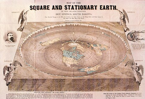 Map of the Square and Stationary Earth, by Orlando Ferguson