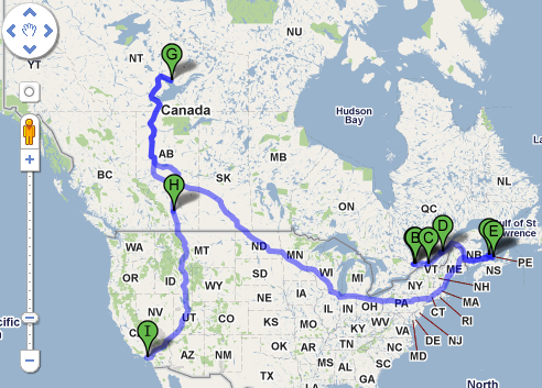Will and Kates Budget North American Tour Revealed Maps