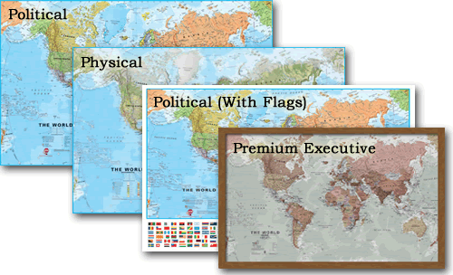 Range of World Maps