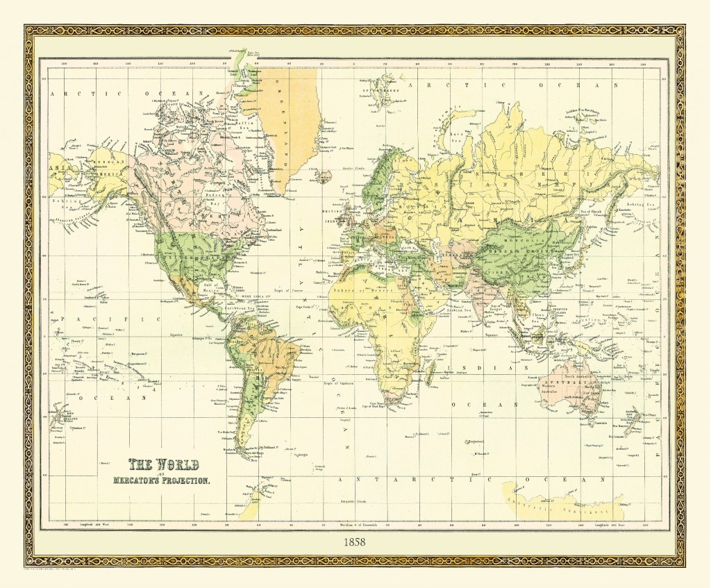 The World on Mecrators Projection