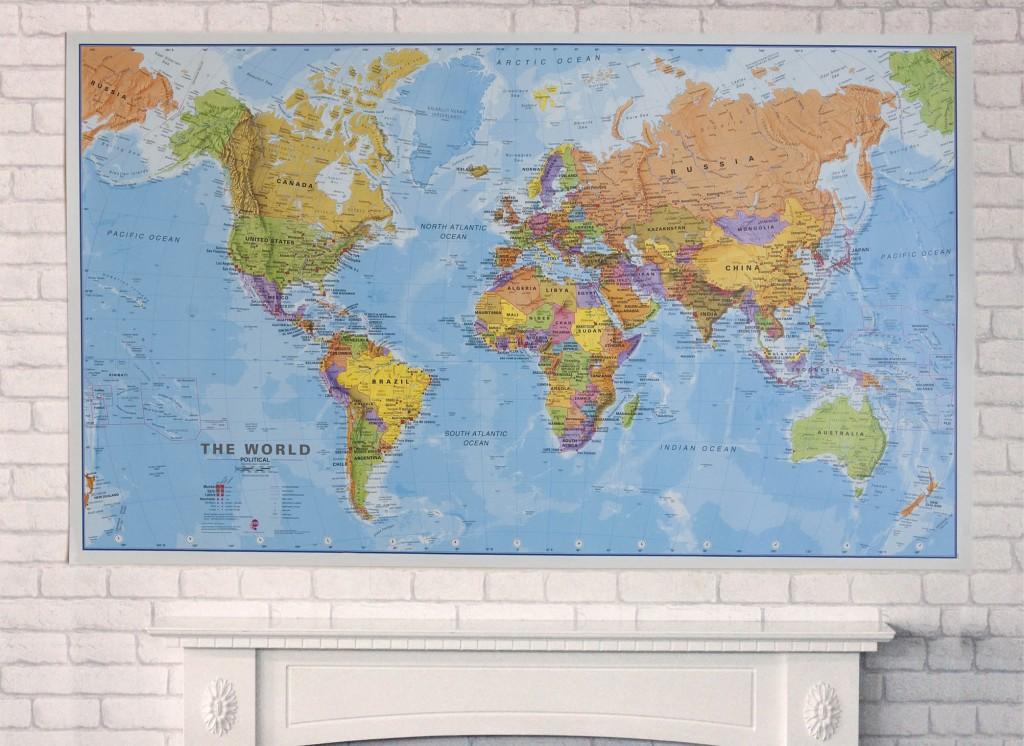Huge world map