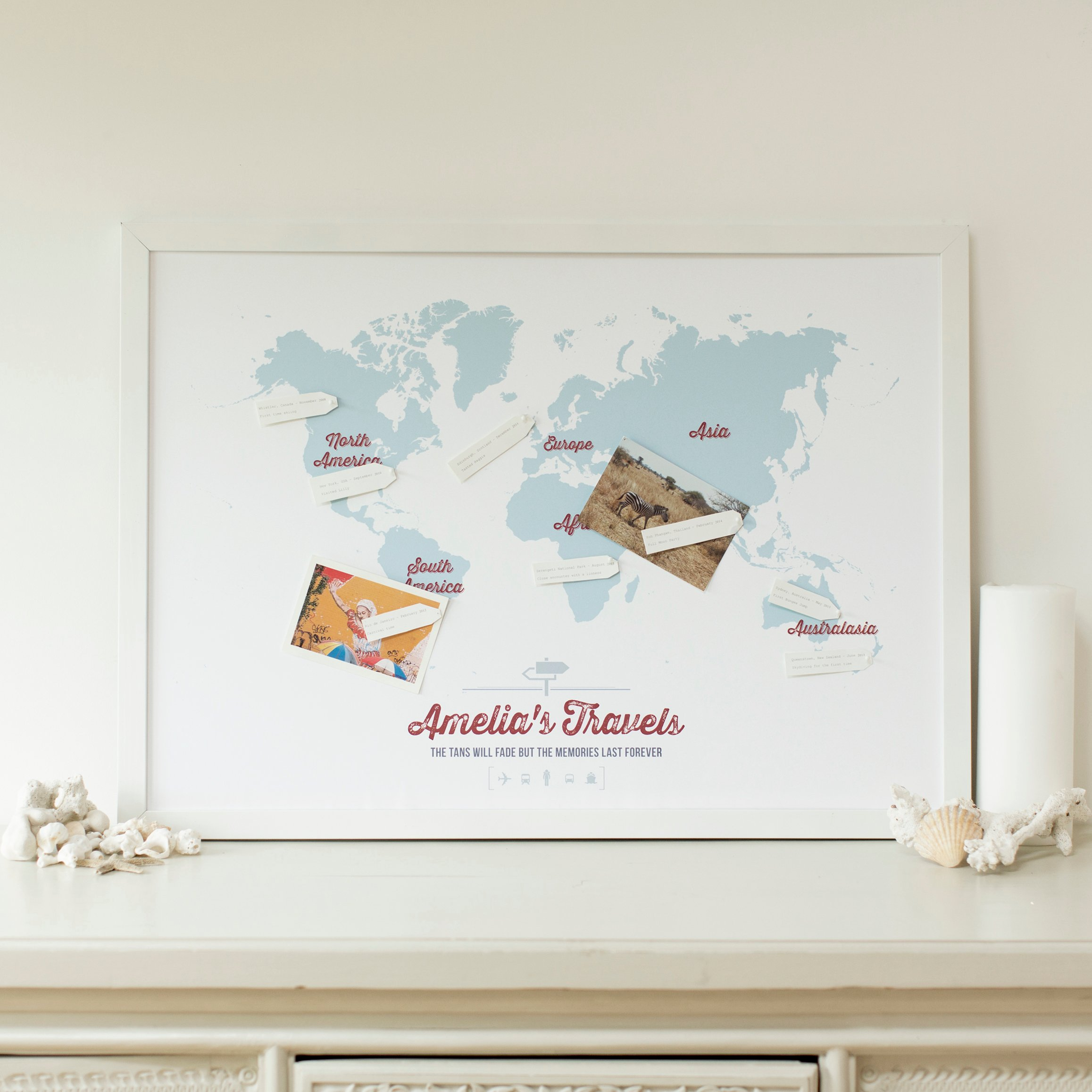 Personalise Your World And Create Your Own Travel Story This Summer - Make your own travel map