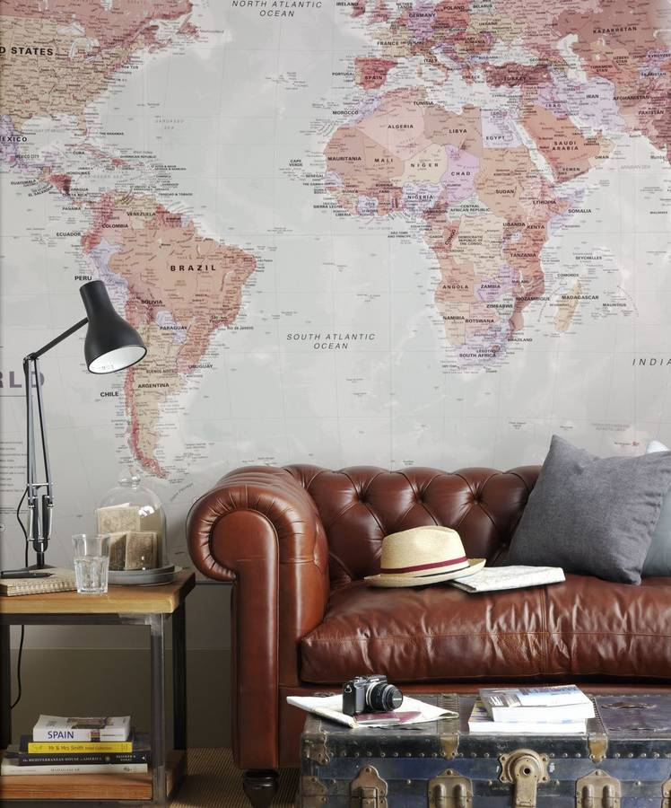 Home decor maps international blog 8 world map wallpapers to suit any home gallery gumiabroncs Gallery