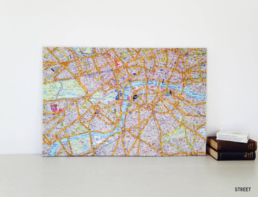 A-Z Canvas London Street Map