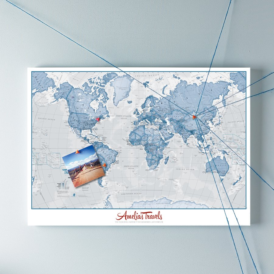 The ideal post holiday personalised gift maps international blog personalised world is art map gumiabroncs Choice Image