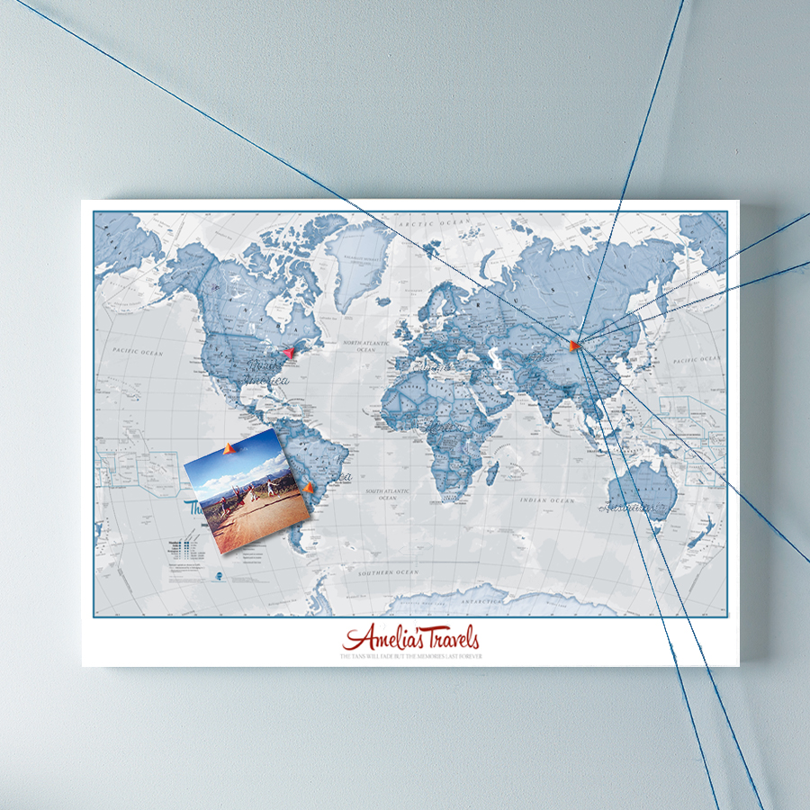 The ideal post holiday personalised gift maps international blog personalised world is art map gumiabroncs Image collections