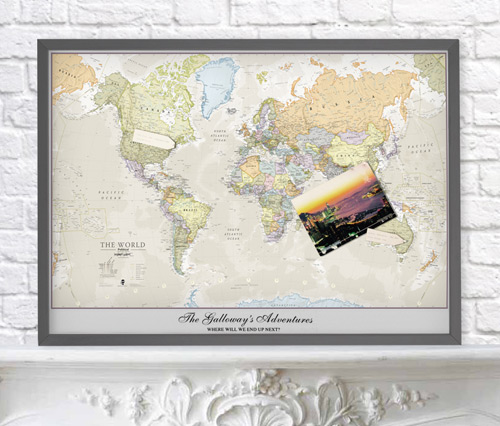 The ideal post holiday personalised gift maps international blog personalised classic world map gumiabroncs Image collections