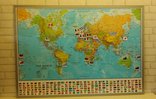 Rugby World Cup Sweepstake Flag Map