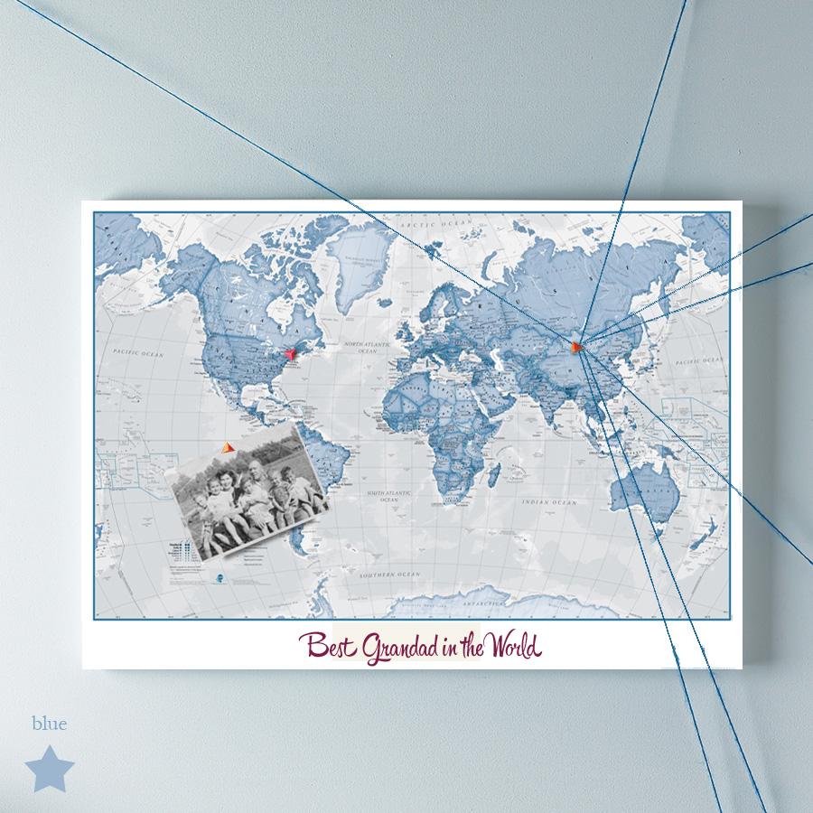 Best Grandad in the world map