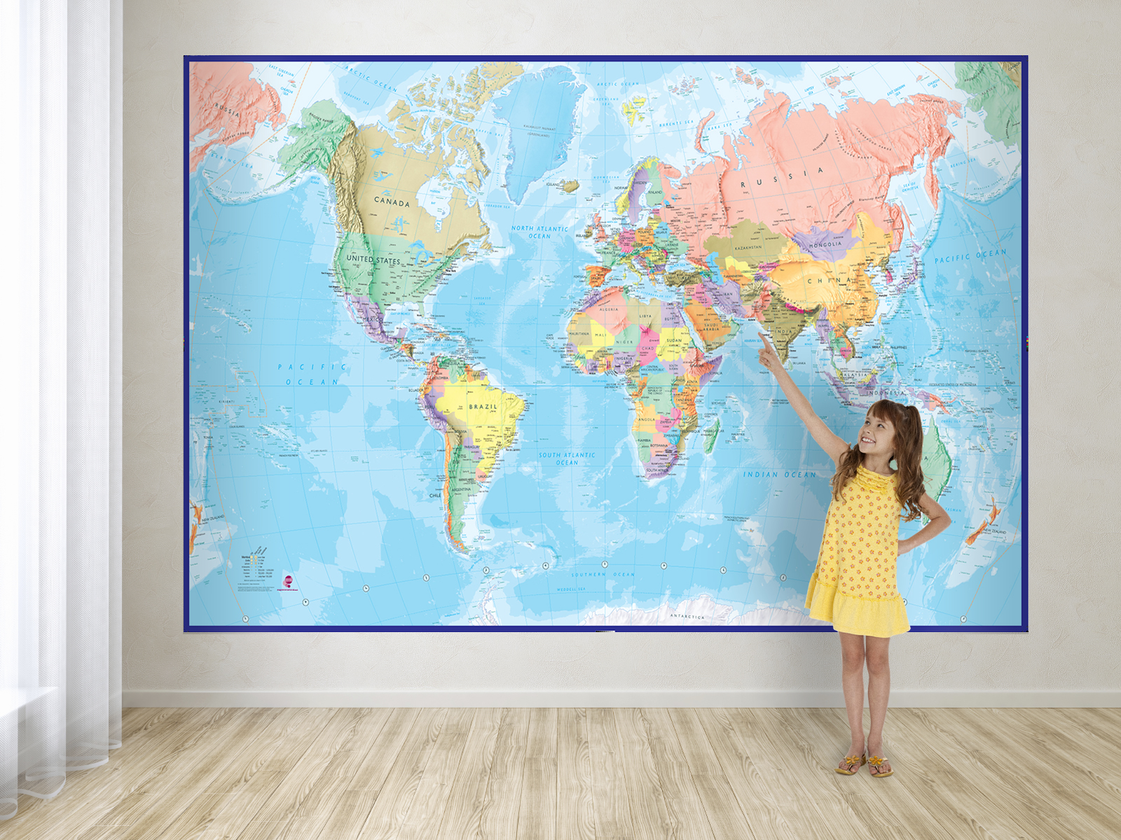 Decorate Your Childs Playroom With A World Map Mural Maps - World map for playroom