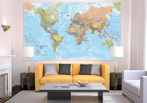 5 reasons why you should really own a canvas map maps canvas world map gumiabroncs Choice Image