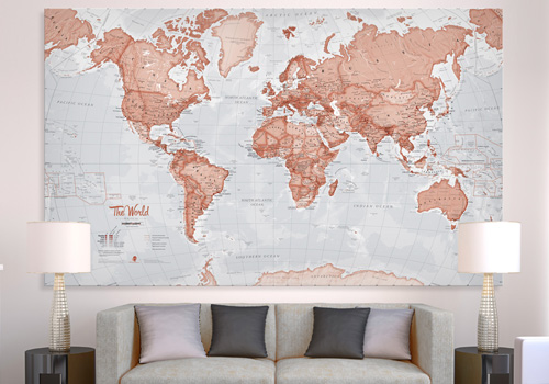 World Is Art - Huge Canvas Map
