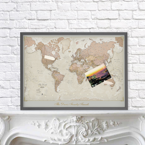 Personalised Antique World Map