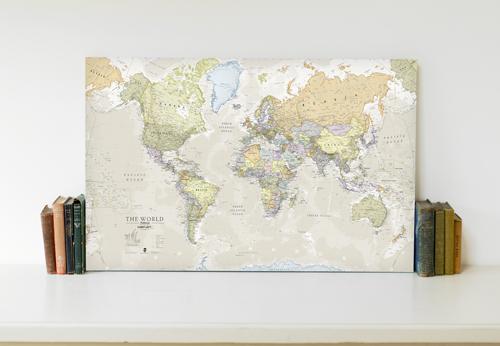 Canvas Classic World Map