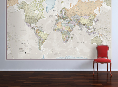 Liven up your walls with a map mural maps international blog liven up your walls with a map mural gumiabroncs Gallery