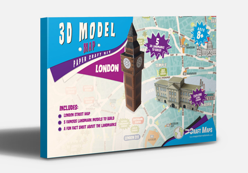 London 3D Model Map Craft kit