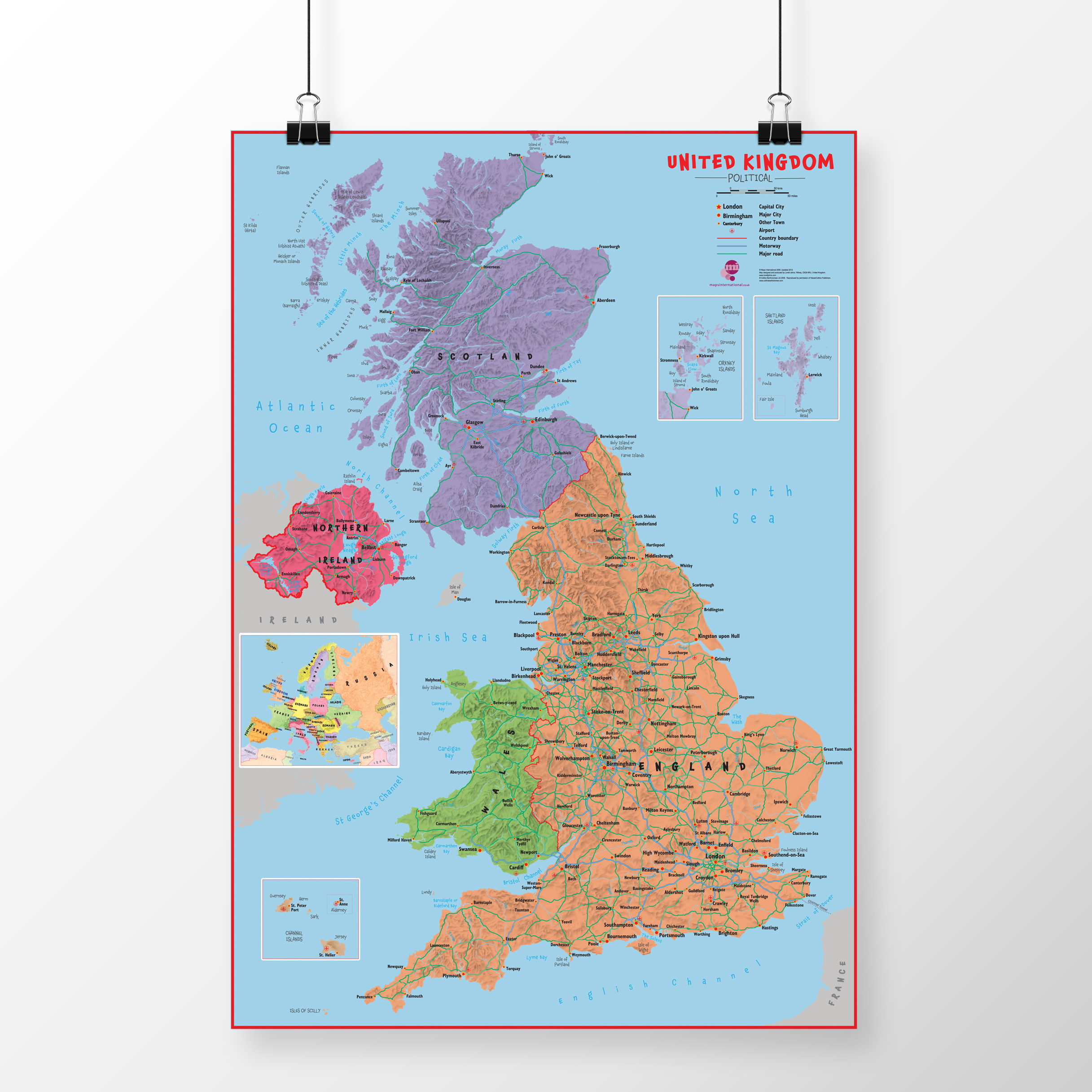 Primary UK Wall Map