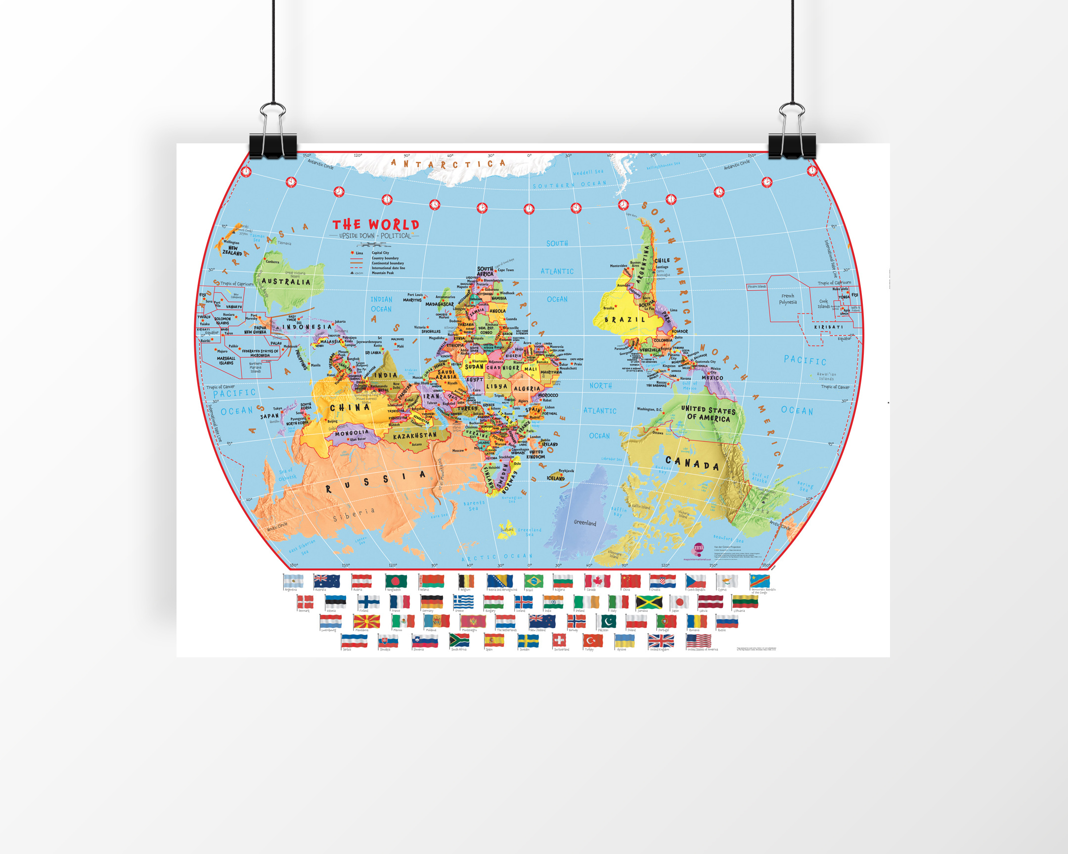 Back to school key stage appropriate maps to bring geography to upside down map of the world gumiabroncs Image collections
