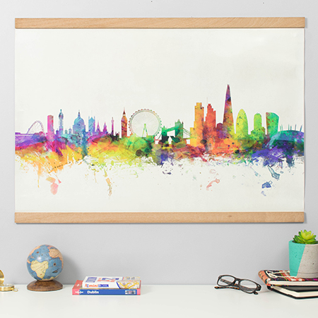 London City Skyline Map