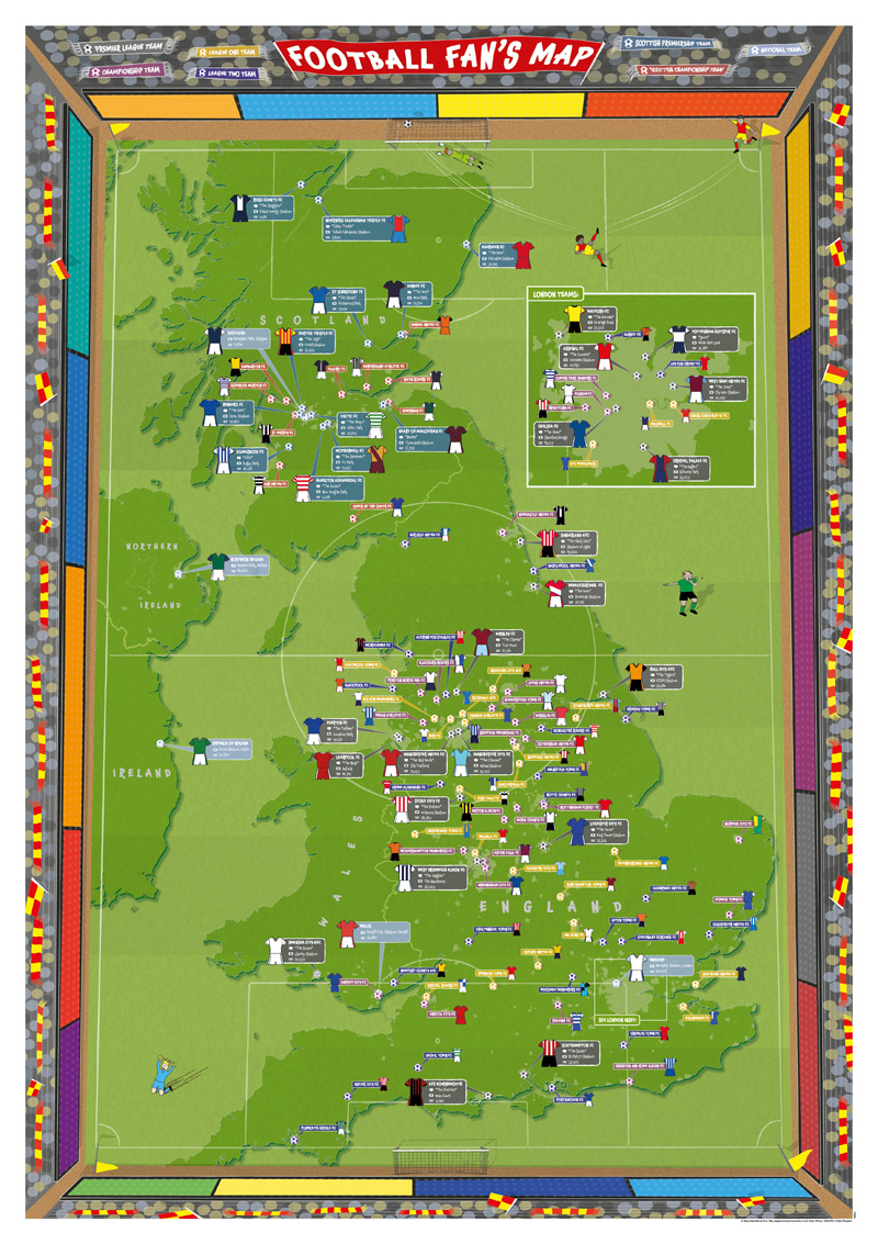 Football Fan's Map gets redesigned for new season - Maps ...