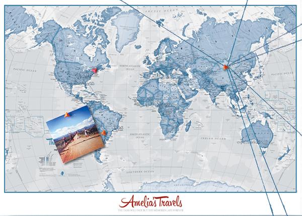 Personalised World Is Art Map - Graduation Gift