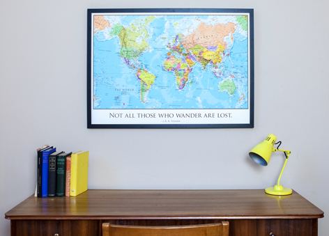 Personalised World Travel Map - Graduation Gift
