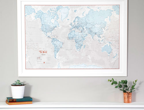 Treat yourself with our range of Framed World Maps!