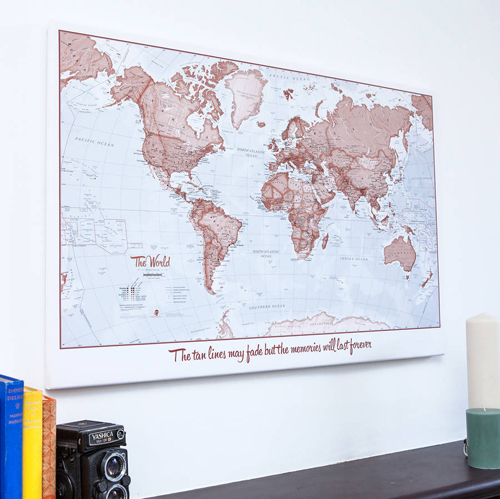 Personalised World Is Art Map