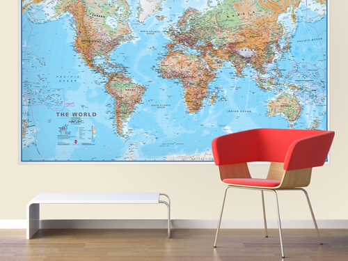 Huge World Wall Map Poster (political) - Laminated