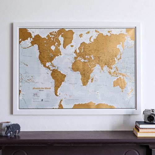 Scratch the World Print