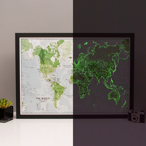 Glow in the Dark Map of the World
