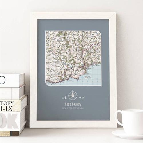 Personalised UK Postcode Map Print