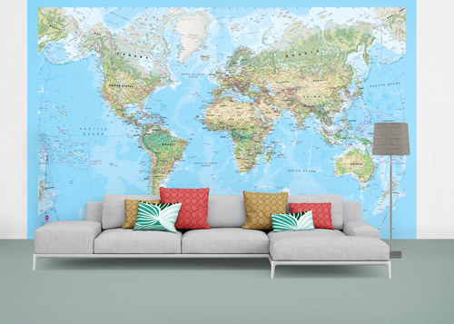 Environmental World Map Wallpaper