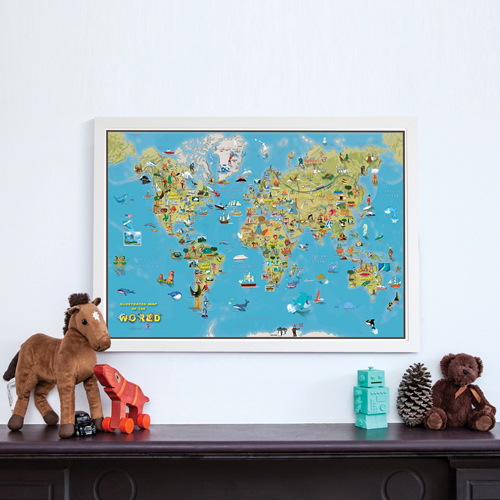 Kids Cartoon Map of the World