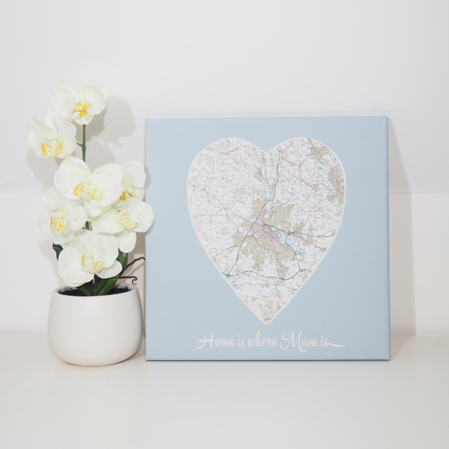 Personalised 'Home Is Where Mum Is' Map