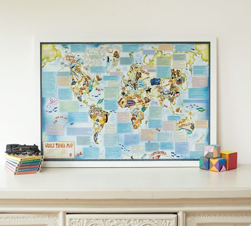 Illustrated Trivia World Map