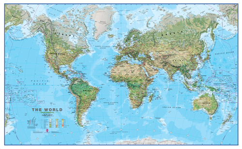 Environmental World Map - Without Flags