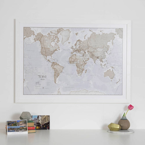 The World Is Art - Wall Map Neutral