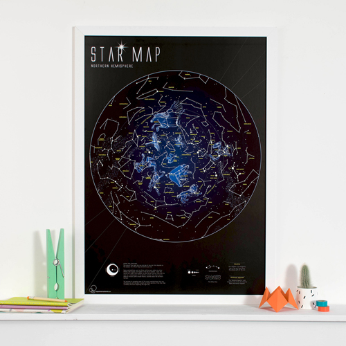 Glow in the Dark Star Map