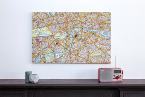A-Z Canvas London Street Map