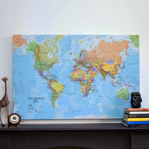 Canvas World Map