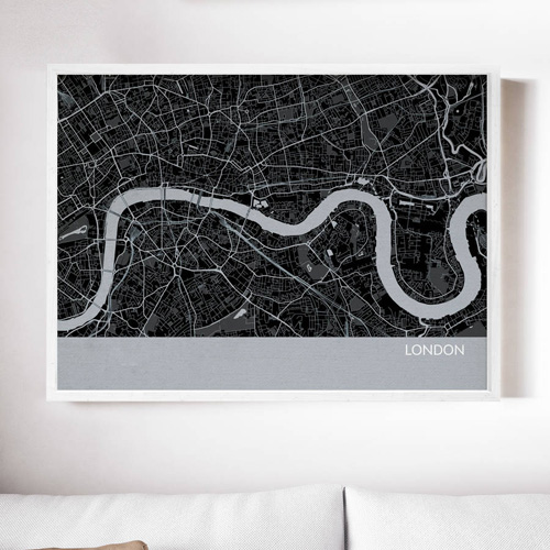 London City Street Map Print