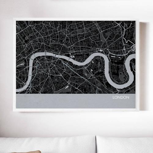 London City Street Map Print