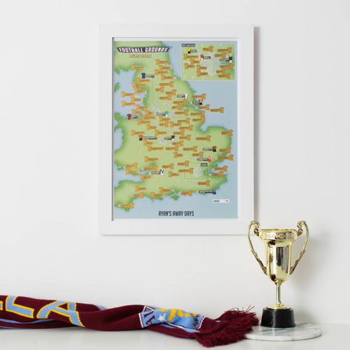 Scratch Off 92 Football Grounds Print