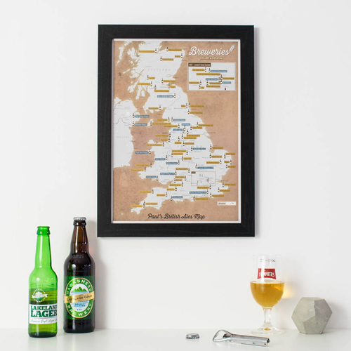 Scratch Off UK Breweries Print