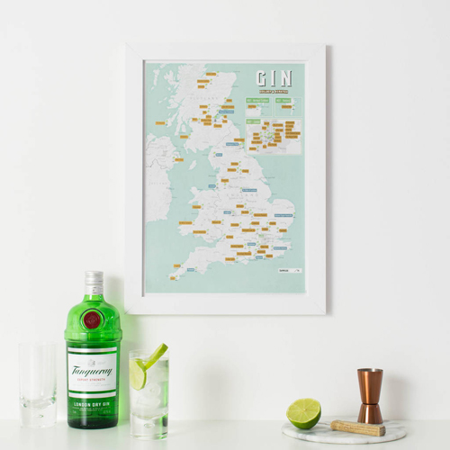 Scratch Off UK Gin Distilleries Print